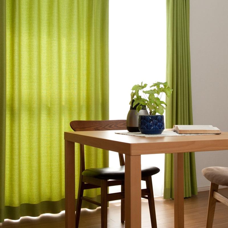 ララカーテン アトモ グリーン(黄緑色) 31001105